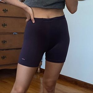 Champion biker shorts (deep purple)